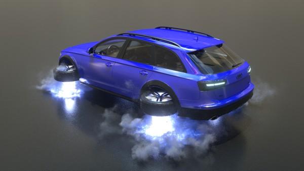 C4d Turbulence FD flying car Project + making process video
