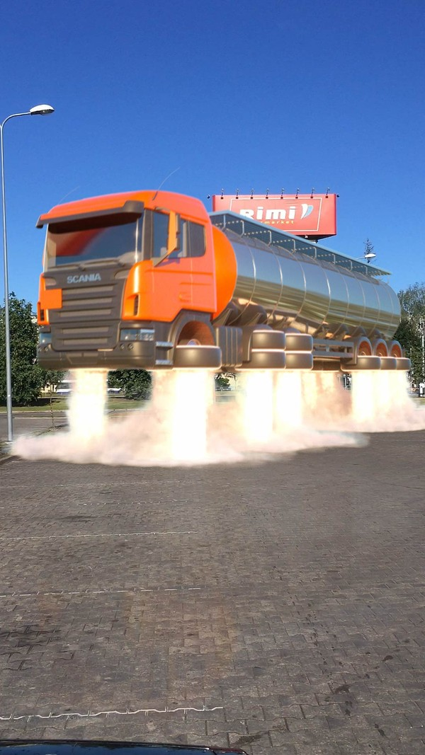 Cinema 4d Flying Scania