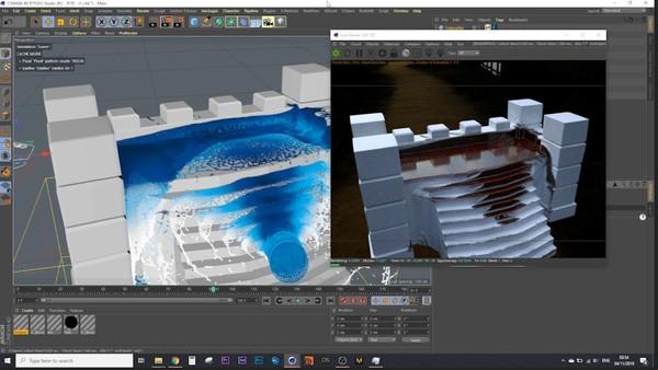 Cinema 4d Realflow WetMap using Octane Render Tutorial