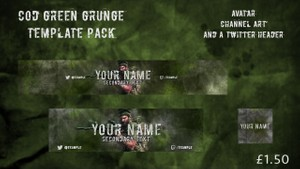 Call Of Duty Green Grunge Template Pack