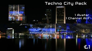 Techno City Template Pack (Channel Art and Avatar)