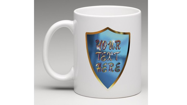 Personalized mugs for you with your gold text on Personalized mugs