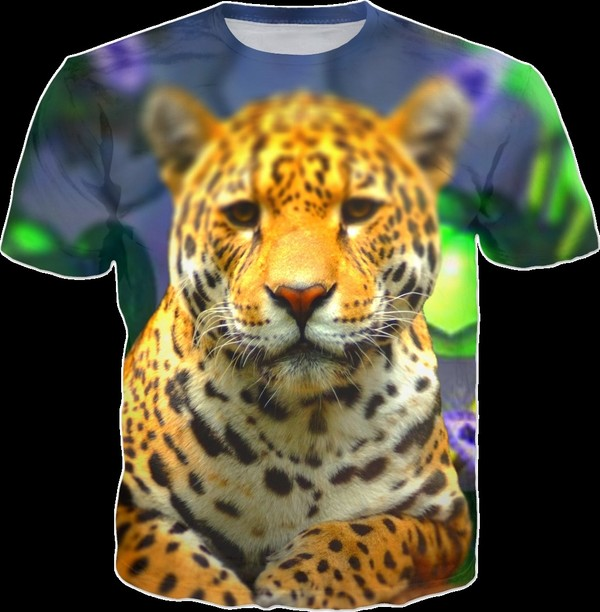 Leopard t skjorte