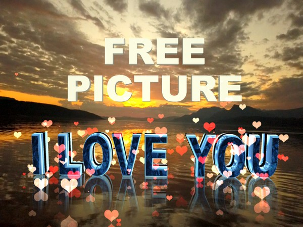 Free I Love you picture