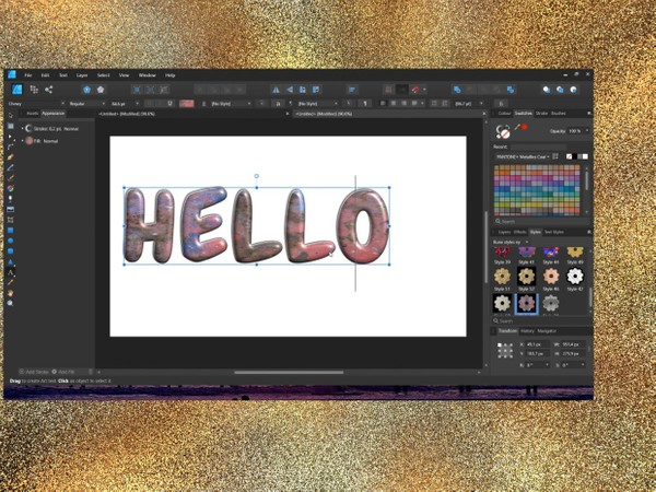 Amazing text styles for affinity designer and affinity photo
