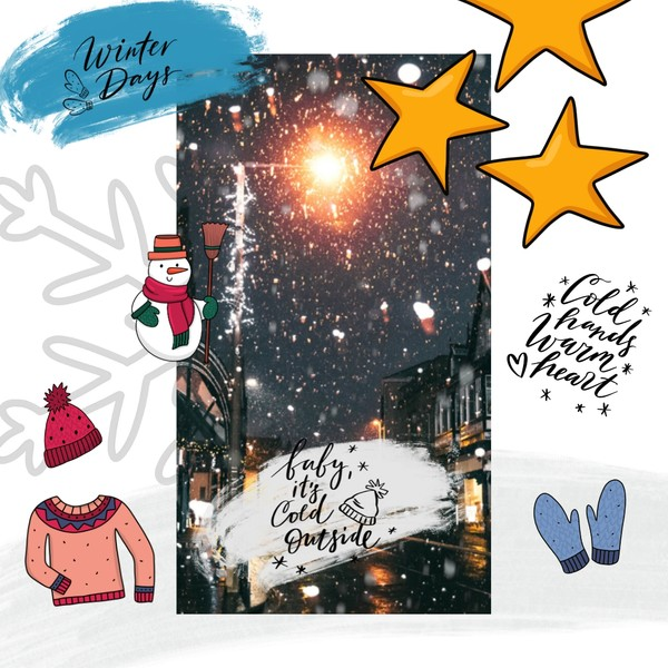 (BUY 1 GET 2) Winter  + Christmas Story Templates