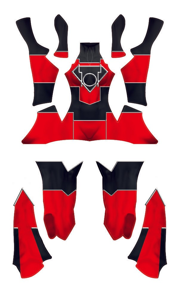 The Red Daughter of Krypton Dye-Sub Pattern......aka Red Lantern Supergirl