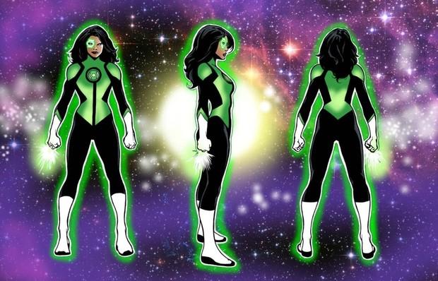 Green Lantern -  Jennifer Cruz Dye-Sub Pattern