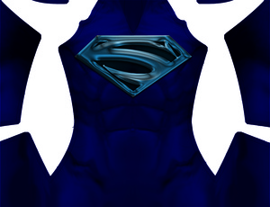 Superman Lives (blue) Dye-Sub Pattern