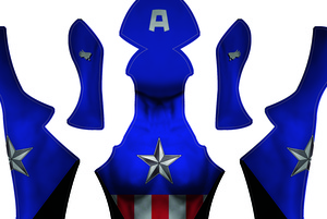 Female Bucky Barns-Captain America Dye-sub Pattern