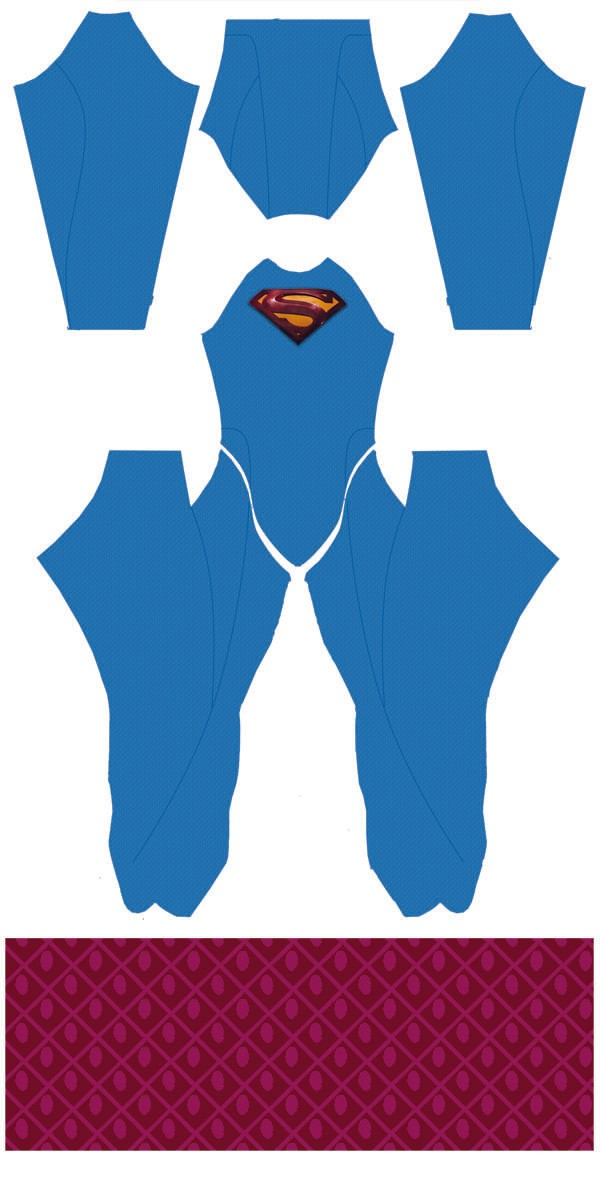 Superman Returns (with emblem) Dye-Sub Pattern