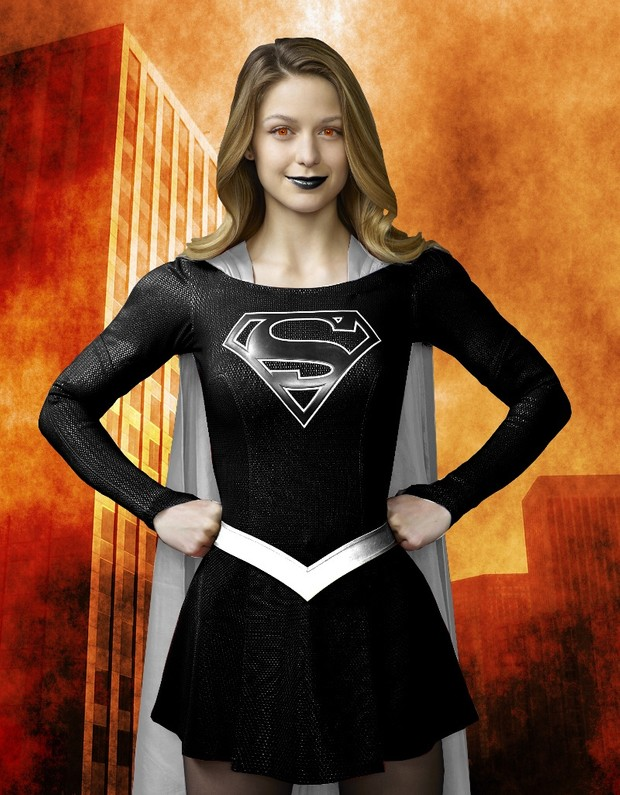 Dark Supergirl Dye-sub Pattern