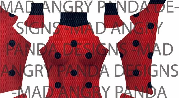Miraculous Ladybug Dye-Sub Digital Pattern (w/muscle shading)
