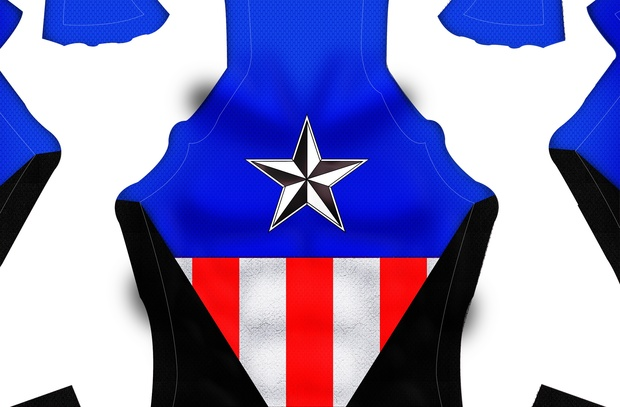 Captain America (Bucky version) Dye-Sub Pattern