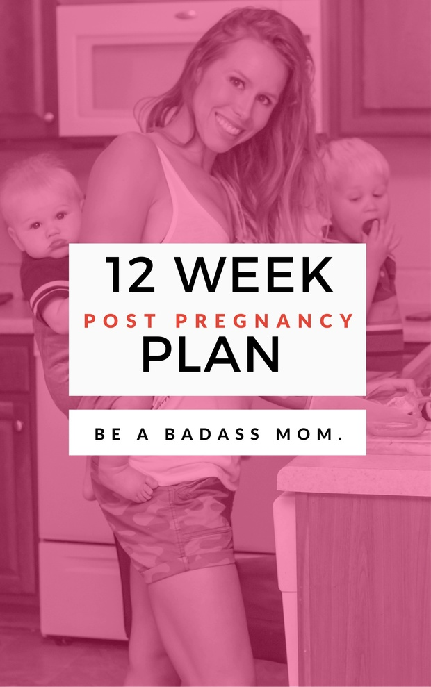 All Videos (Pg. 21 for clickable video-access) + Ebook: GlowBodyPT 12 Week Post Pregnancy Plan
