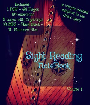1- LEVER HARP SIGHT READING NOTEBOOK - VOLUME ONE- BASE PACK