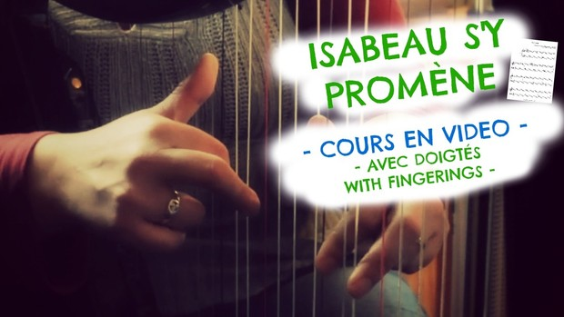 2-ISABEAU S'Y PROMENE FOR LEVER HARP -VIDEO COURSE - LV2