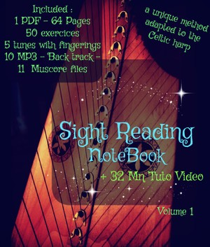 3-SIGHT READING LEVER HARP VOL1  - VIDEO PACK -