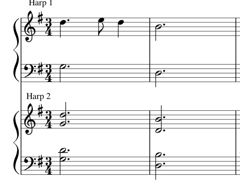 54-HOLY NIGTH - LEVER HARP  DUET S27 PACK -HARPSICLE FRIENDLY