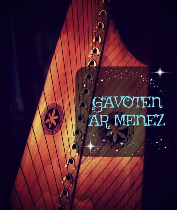 182-GAVOTEN AR MENEZ 34S - COVER- FLUTE AND HARP