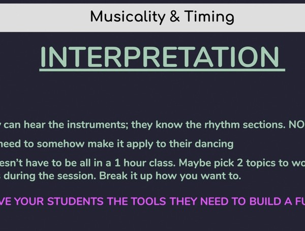 9) Interpreting Musical Energy