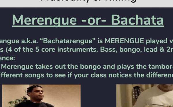 8) Bachata or Merengue
