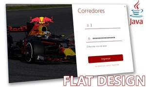 Login Red Bull - Flat Design