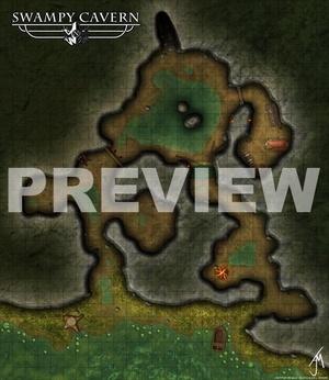 Swampy Cavern - Game Map