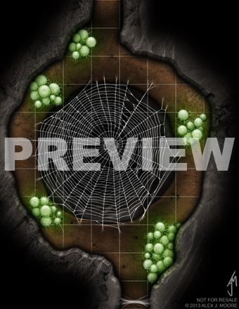 Spider Lair - Game Map