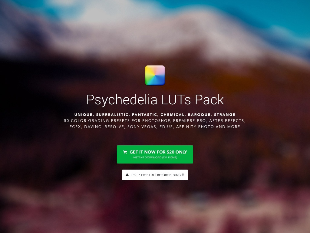 IWLTBAP Psychedelia Luts Pack (Win/Mac)