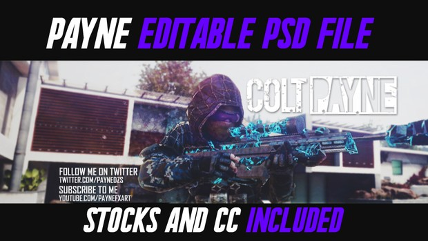 Colt Payne Banner PSD