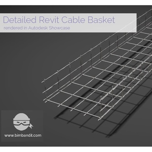 €Revit Parametric Wire Basket Cable Tray Family