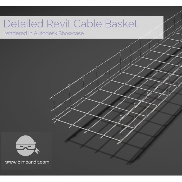 $Revit Parametric Wire Basket Cable Tray Family