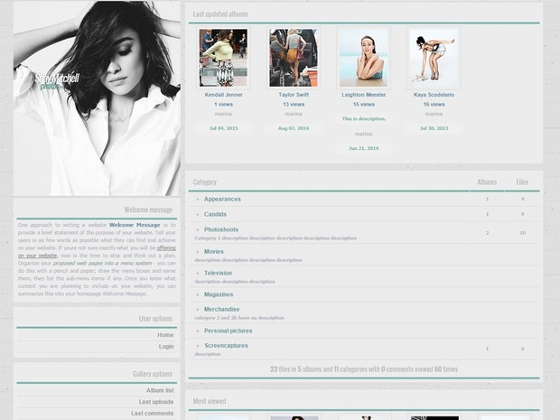 Coppermine gallery theme - Premade 001