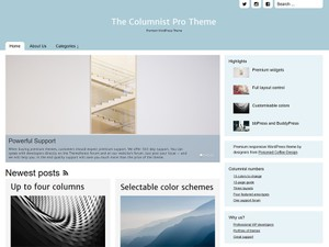 The Columnist Pro Magazine/Blog Responsive theme