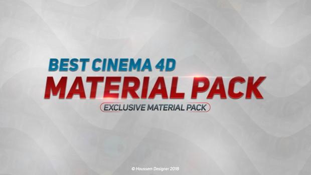 Best Cinema 4D Material Pack 2018 By Houssem Designer