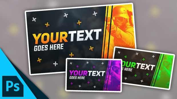 Gaming Thumbnail Template   Free Photoshop Template [F