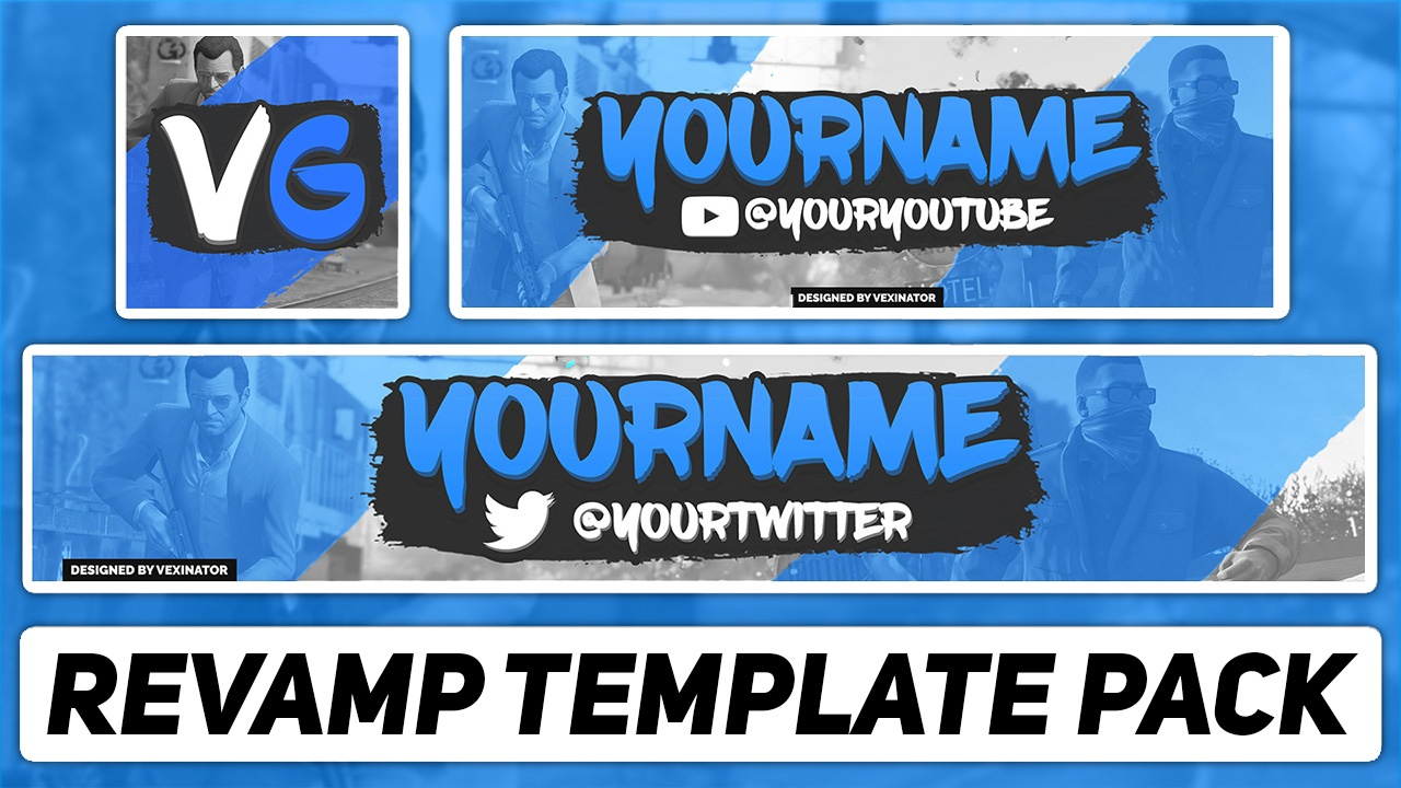 youtube banner photoshop template