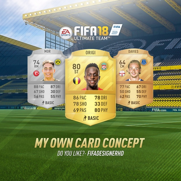 1b705427da797 FIFA 18 CARD TEMPLATE HD