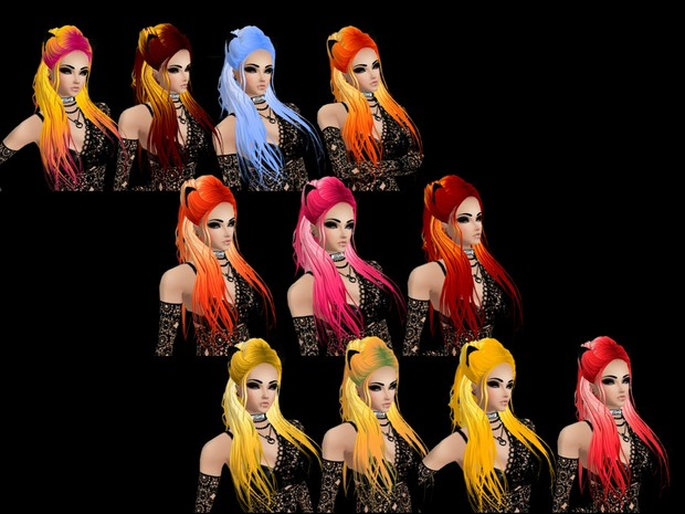 HAIR TEXTURES #1 -- Candy Coated