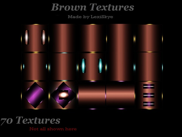Brown Textures (Brown, Brown with teal and brown with purple)
