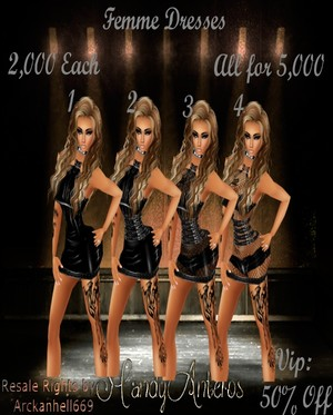 Femme Dresses (4 pack)