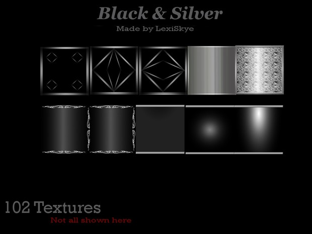 Black and Silver (102 Textures)