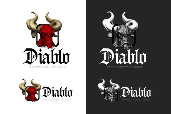 Diablo logo illustration