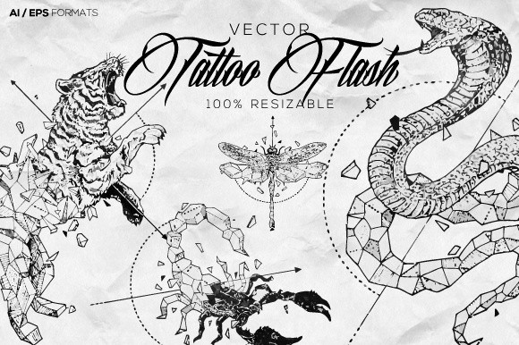 Vector Tattoo Animals Flash