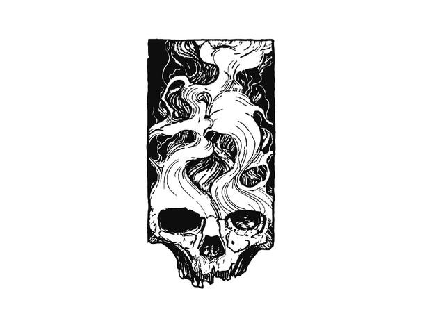 SKULL SMOKE TATTOO FLASH DESIGN - Maioriz Design