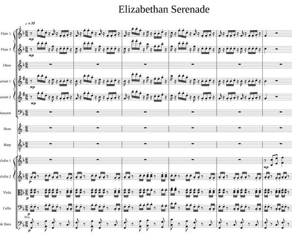 Elizabethan Serenade Backing track / Karaoke