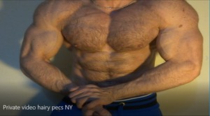 HAIRY PRIVATE PECS NY