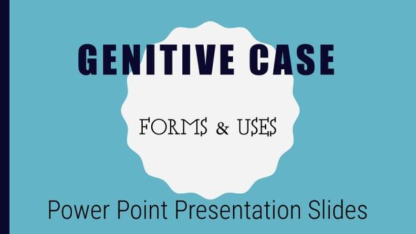 Beginning Russian. Genitive Case. Power Point Presentation Slides