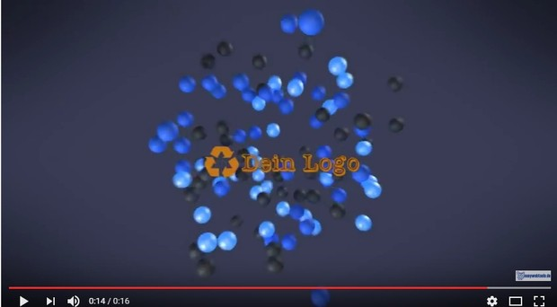 Intro Logo Video balls dein logo